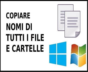 copiare nomi file e cartelle